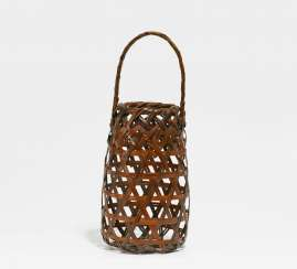 Ikebana basket with high Handle