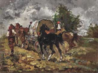Issupoff, Alessio. Riders and wagons