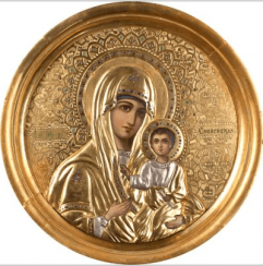 The Smolensk mother of God , XIX century