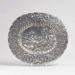 The Nuremberg spectacle plate, with a figural scene