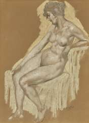 Eichler, Reinhold Max. A seated female Nude