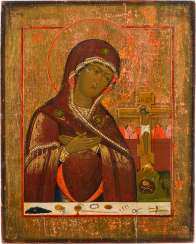 DATED ICON OF THE MOTHER OF GOD 'ACHTYRSKAJA'