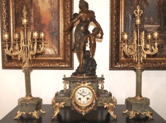 Mantel clock Seth nineteenth century France