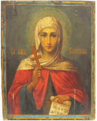 Icon Saint Paraskeva of the XIX-th century