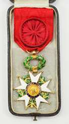 France: order of the Legion of honor, 9. Model (1870-1951), officers cross, in case.