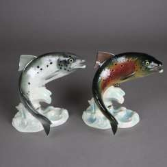 "Two fish figures ""salmon"""