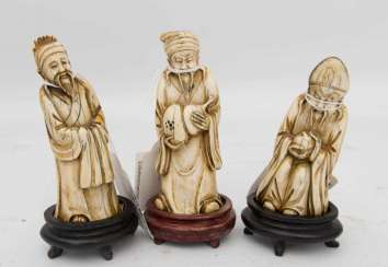 THREE OLD MANNER, the leg, probably China, 19. Century