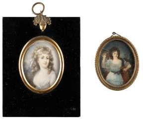 TWO PORTRAITS OF LADIES