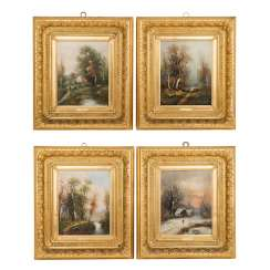 "20th CENTURY PAINTER Series of the ""Four Seasons"""