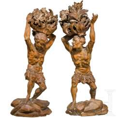 A pair of Indian figures, South German, around 1720