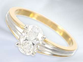 Ring: exquisite, modern and very high-quality diamond ladies ring, approx 1,25 ct