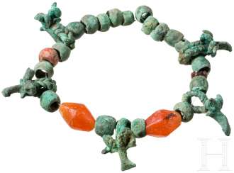 Necklace with Bronze and carnelian beads, Caucasus, Koban culture, 8. - 7. Century before Christ