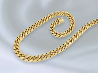 Necklace/Collier: exceptionally heavy and solid curb chain, 18K Gold