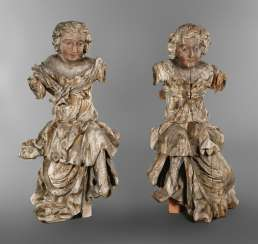 Pair of life-size Baroque statues