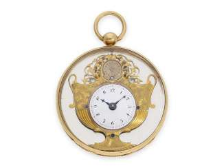 Pocket watch: a Museum Gold/enamel screw-Formuhr for the Chinese market,