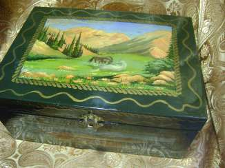 Jewelry box with 5 compartments