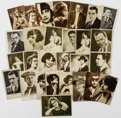 Collection of Russian postcards with actors (28 PCs)