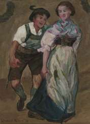 Paul Schad-Rossa, dancing peasant couple