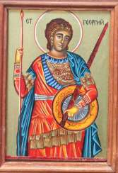 The icon of St. George