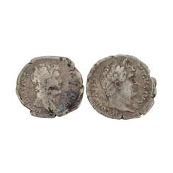2 coins of the Roman Empire -