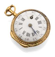 Gold Enamel-Spindle Pocket Watch