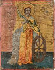 A SMALL ICON WITH THE HOLY MARTYR KATHARINA Greece