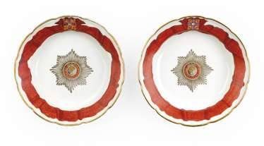 A Porcelain Soup Plate from the Imperial Order of St Alexander Nevsky Service