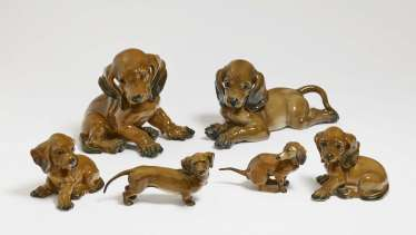 Dachshund family, six parts