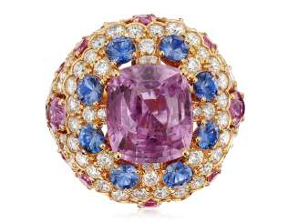 GRAFF PINK SAPPHIRE AND DIAMOND RING