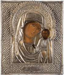 ICON OF THE MOTHER OF GOD OF KAZAN (KAZANSKAYA) WITH VERMEIL-OKLAD