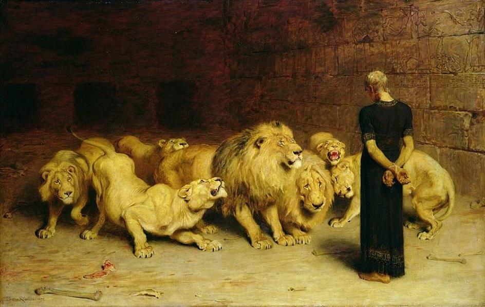 Казни в живописи. Брайтон Ривьер. Даниил во рву со львами