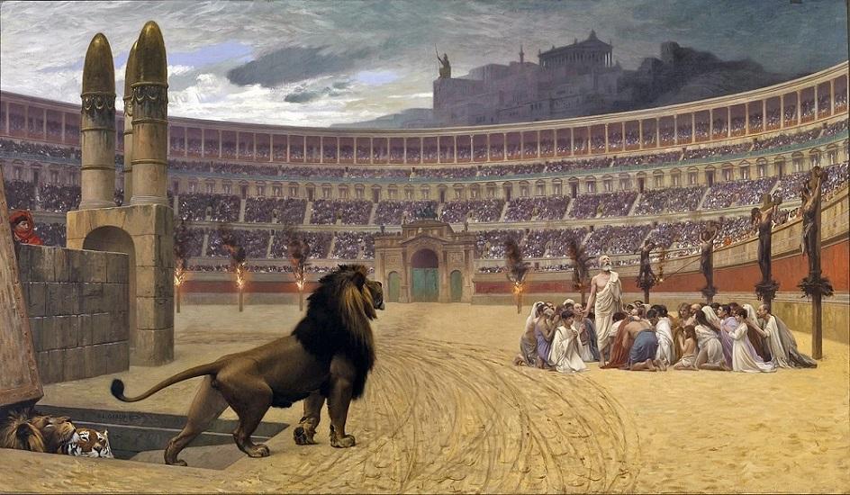Казни в живописи. Жан-Леон Жером. Последняя молитва христианских мучеников
