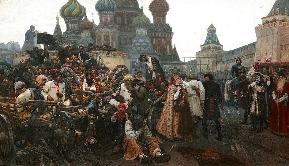 Казни в живописи. Василий Суриков. Утро стрелецкой казни