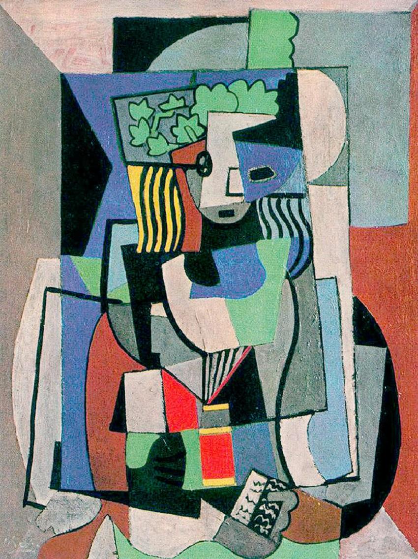 Кубизм. Пабло Пикассо, «Студент»