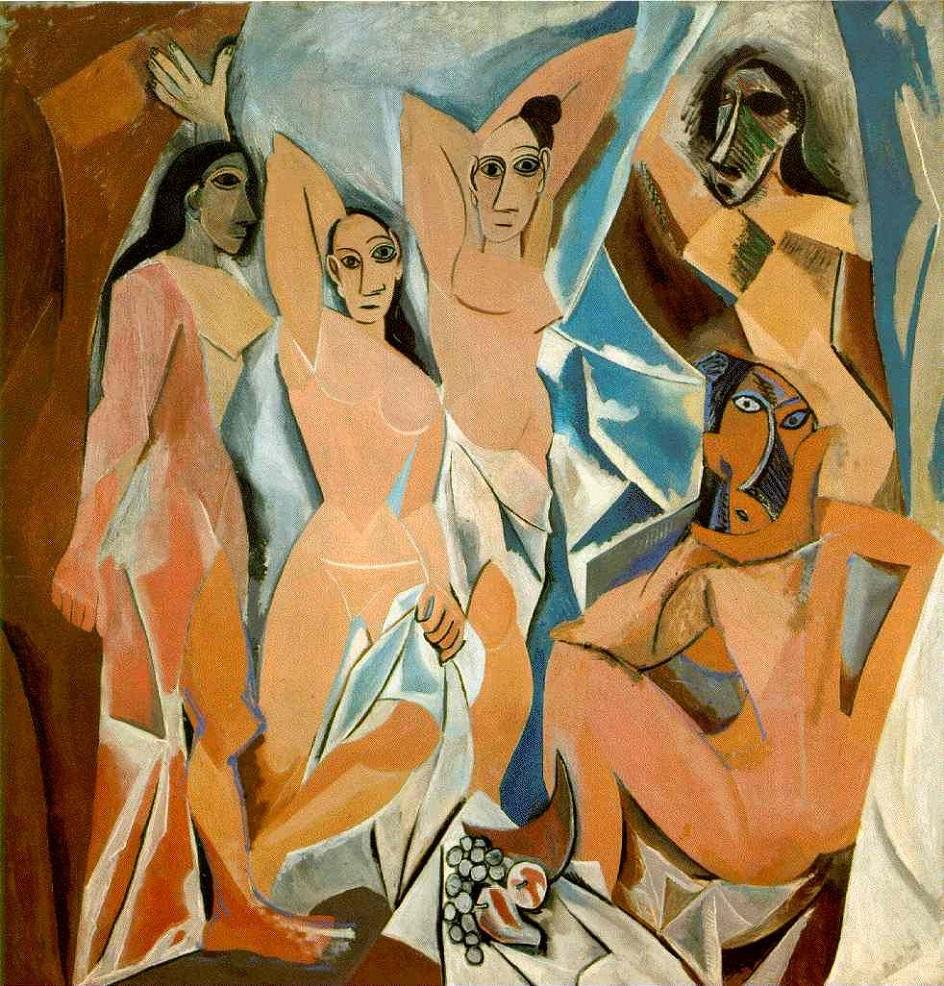 Кубизм. «Авильнонские девицы», Пабло Пикассо