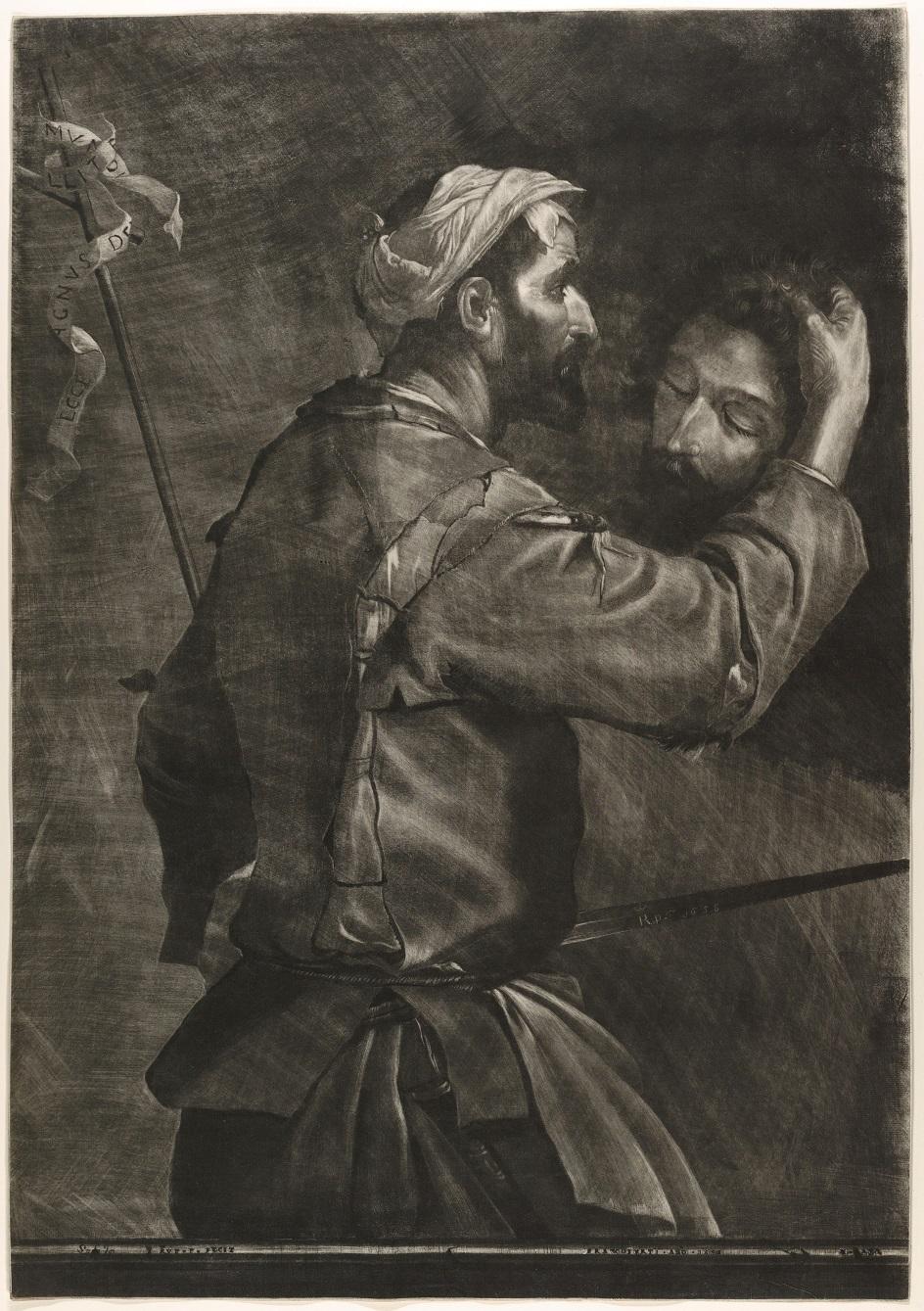 Меццо-тинто. Принц Руперт Рейнский. Гравюра «Великий палач», 1685