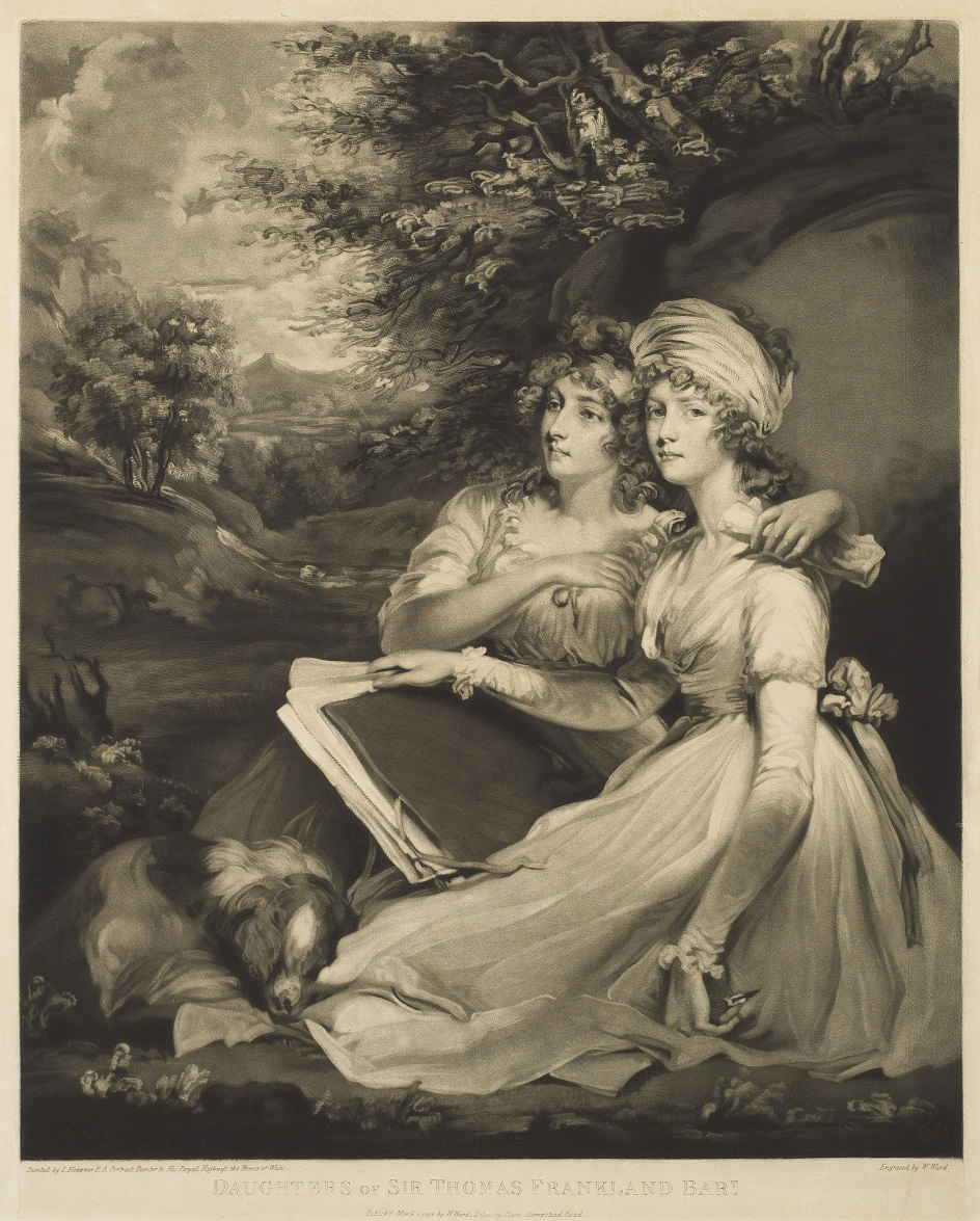 Меццо-тинто. Уильям Уорд. Гравюра «Дочери сэра Барта Томаса Франкленда», 1797
