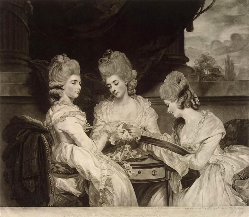 Меццо-тинто. Уильям Уорд. Репродукция картины Джошуа Рейнольдса «Леди Вальдегрейв», 1781