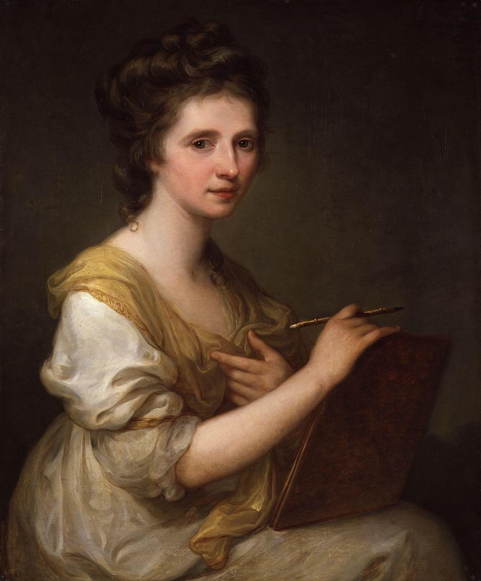 Ангелика Кауфман. Картина «Автопортрет», 1775