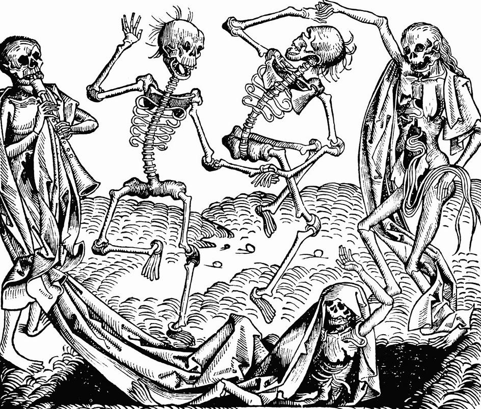 Гравюра. Михаэль Вольгемут. «Пляска смерти»