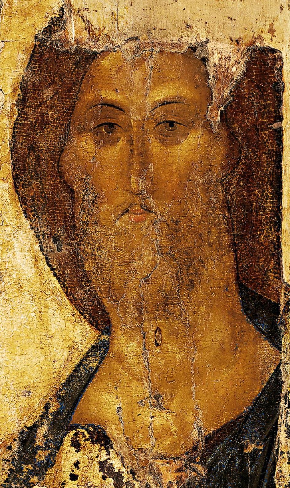 Икона. Андрей Рублев. Икона Спаса Звенигородского начала XV века