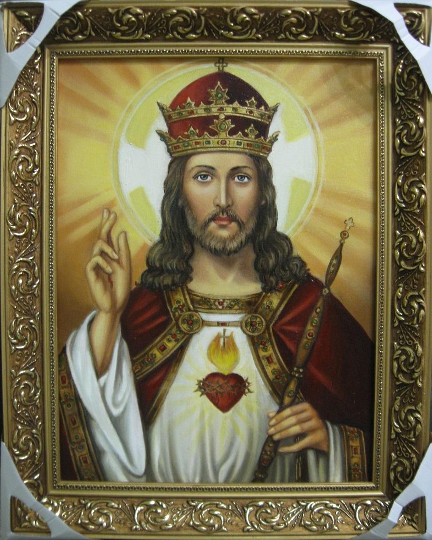 Икона. Католическая икона Иисуса Христа