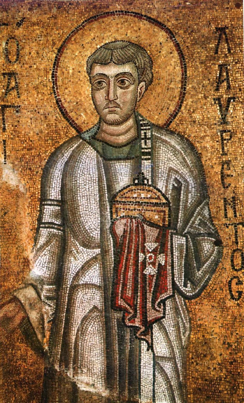 Икона. «Архидиакон Лаврентий». Мозаика Софийского собора в Киеве XI века