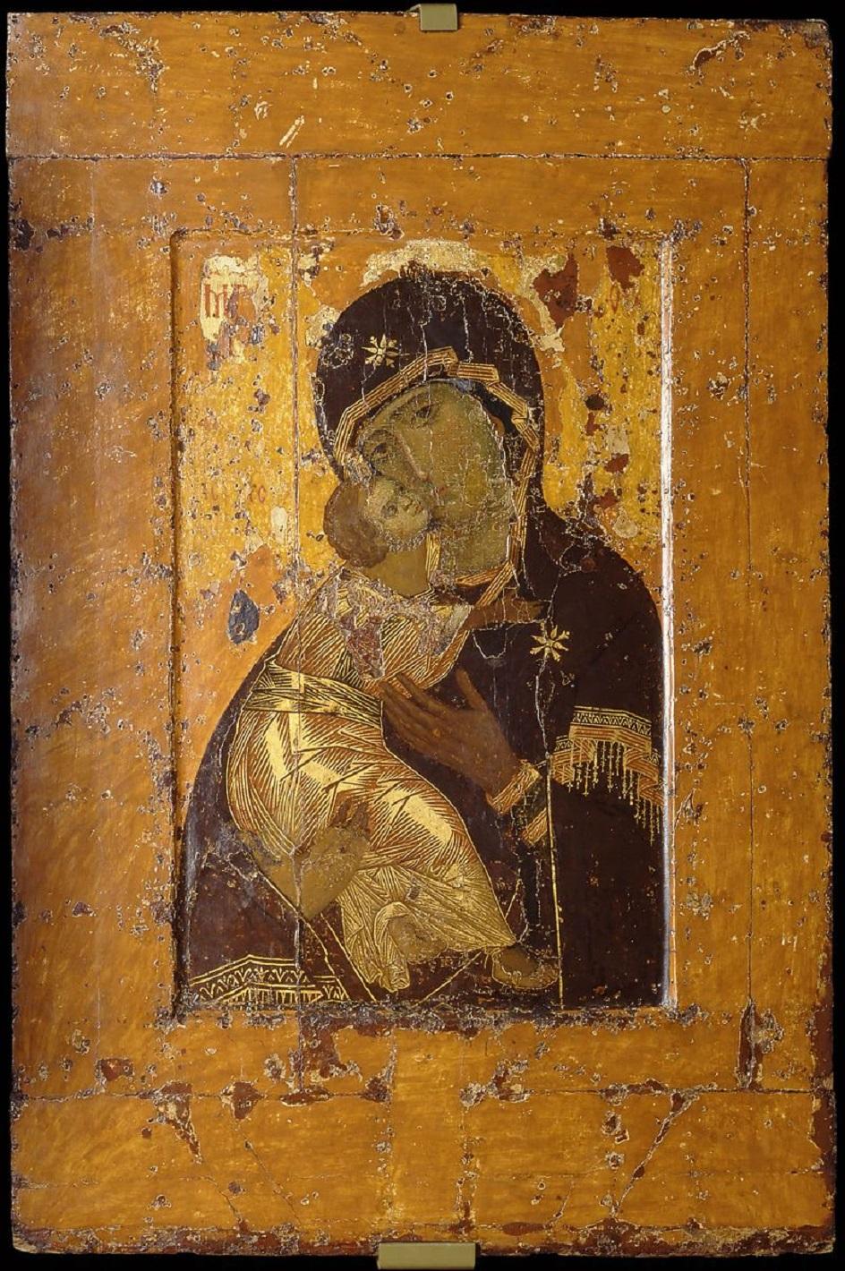 Икона. Владимирская икона Богоматери начала XII века