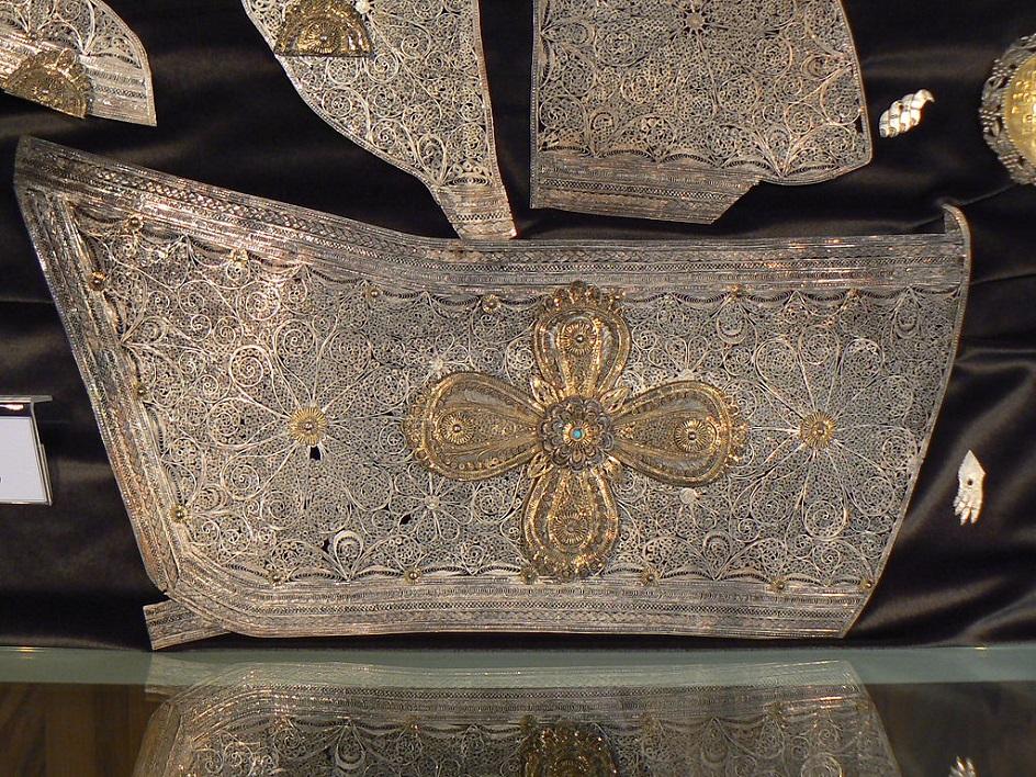 Филигрань. Фрагмент рамы болгарской православной иконы, XVIII век