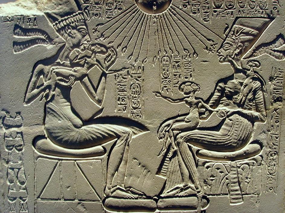 Барельеф. Древнеегипетский койланалиф на стенах храма. XIV век до нашей эры