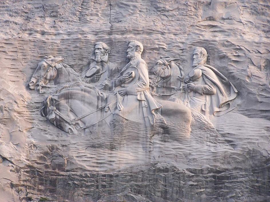Барельеф. Барельеф «Мемориал Конфедерации» на скале Стоун-Маунтин, ХХ век