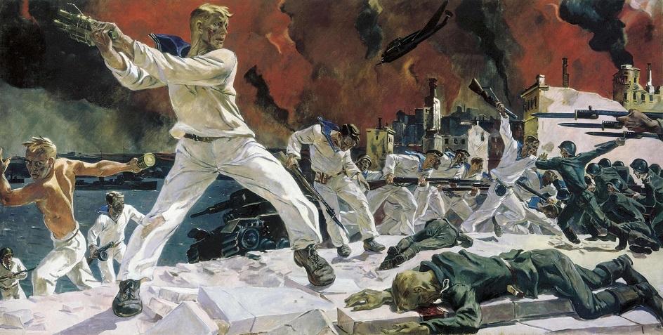 Александр Дейнека. «Оборона Севастополя», 1942
