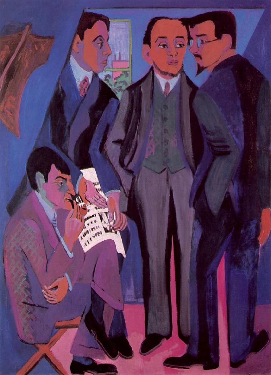 Эрнст Людвиг Кирхнер. «Групповой портрет участников группы Мост», 1926-1927