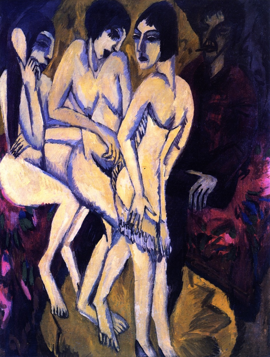 Эрнст Людвиг Кирхнер. «Суд Париса», 1913